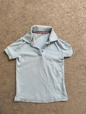 French Toast Girls Polo Shirt School Uniform sz 6 / 6X Light Blue Short Sleeve