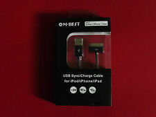 M-Best USB Sync/Charge Cable for iPod, iPhone and iPad - Black