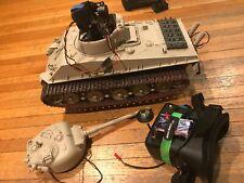 1/16 Tamiya King Sherman tiger Fpv Video Stablized with Go Pro rc Tank