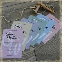 Personalised Wedding Invitations, MONOGRAM DETAIL, WITH ENVELOPES, packs of 10
