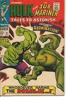 Tales to Astonish 91 FN 6.0 1st Abomination cover Sub-Mariner Hulk Marvel 1967