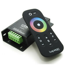 Dimmer Controller LED RGB 3 CH 15A RF 2.4GHz data in data out 12/24v touch 8 pro