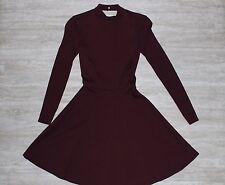 NWT American Apparel Women's Long Sleeve Ponte Dress Burgundy Size LARGE