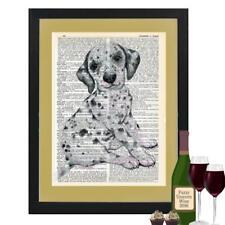 Dalmatian Puppy Dog Dictionary Art Print Contemporary Dalmatian Lovers Gift