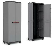 Plastic Garden Shed Large Garage Storage Box 2 Doors Cabinet Shelves Outdoor