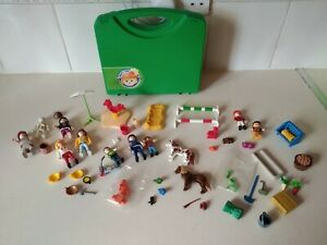 Playmobil Mixed Bundle - Animals, Figures And Carry Case