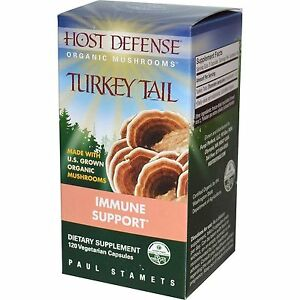 Turkey Tail Fungi Perfecti  Host Defense  120 Caps