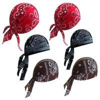 6pcs Paisley Cotton Biker SKULL CAPS Motorcycle Bandana Head Wrap Du Doo Do Rag