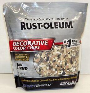 Rust-Oleum 301357 Epoxy Shield Decorative Tan Blend Color Chips Concrete Coating