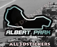 Adesivi Resinati 3D Circuito Albert Park 13x8 cm