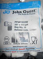Push-Fit Fittings JOHN GUEST #  PP481222W ,3/8 X 1/4 NPFT Bag 10 Pieces