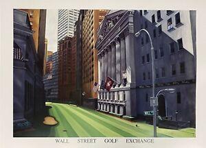 "VY Scherr - Wallstreet Stock Exchange Art Print 23"" x 31"""