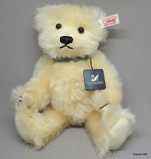 Steiff Crystal Teddy Bear 11in Mohair Plush LE ID Button Tag Swarovski Bracelet