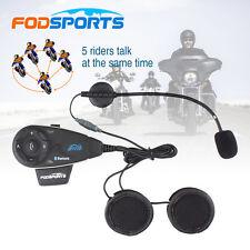 1200M Motorcycle Helmet Interphone Bluetooth Intercom headset FM Radio 5 Riders