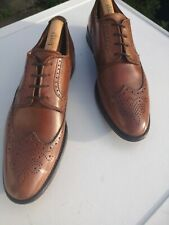 Mens FLORSHEIM Imperial 100% Leather, Brown Lace-up Wing Tip Brogues UK 10