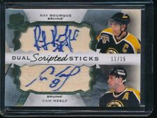 2015-16 The Cup Scripted Sticks Dual #DSPNB Ray Bourque/Cam Neely 11/15