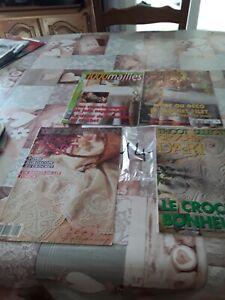 Lot de livres crochet d art