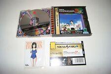 Vintage Anime Game Sega Saturn Neon Genesis EVANGELION 2nd Impression with CARDS