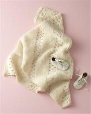 BABY knitting pattern baby knitting pattern for vintage style baby blanket shawl