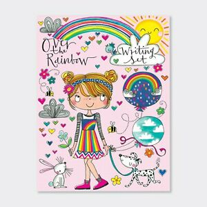 Over The Rainbow Writing Set Wallet By Rachel Ellen - Girls Notepaper & Stickers