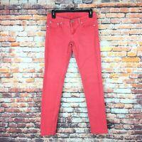 Rue 21 Womens Size 3/4 Skinny Coral Wash Denim Jeans