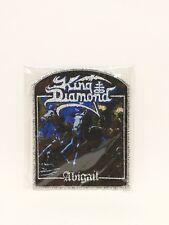 King Diamond Abigail band metallic sliver patch, Iron on Woven Badge U.S Seller