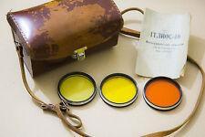 HELIOS 40 85mm f/1.5 Leather Case + Vintage Filter Set Biotar Copy