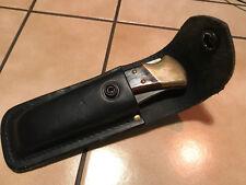 Buck Folding Hunter 110 Messer Taschenmesser Klappmesser Lederetui USA - NEU