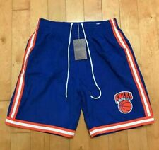MITCHELL AND NESS NEW YORK KNICKS FLEECE SHORTS 1991  SZ LARGE