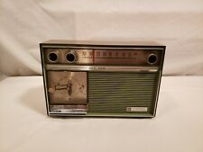 Vintage General Electric Solid State Am Clock Radio, Works, Olive Green, C1468A