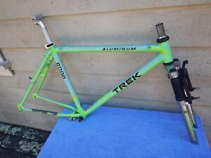 "18"" Vintage Trek 8000 Mountain Bike Frameset Original Mogul Shock Fork Green"