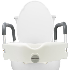 Medical Portable Elevated Raised Toilet Seat with Arms Lift Riser Safety Rails