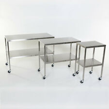 """New MCM-501 Stainless Steel Instrument Table with Shelf 16""""W x 20""""L x 34""""H"""