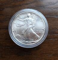 1992 AMERICAN SILVER EAGLE. 1oz Silver. BU Condition. LOW MINTAGE!