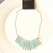 """New 17"""" Forever21 Faux Turquois Collar Necklace Gift Fashion Women Party Jewelry"""