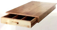 new2 Piece Bamboo Wooden Food Cutting Chopping cheese board with utensils drawer