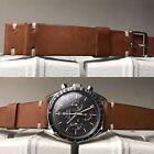 20 mm Natural Brown Leather Strap Band Bracelet cinturino for vintage valjoux