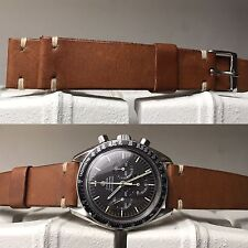 20 mm Natural Brown Leather Strap Band Bracelet cinturino for vintage valjoux