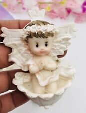 12pcs BAPTISM PARTY FAVORS CERAMIC FIGURES  RECUERDOS De BAUTIZO NINA NIÑO PRAY