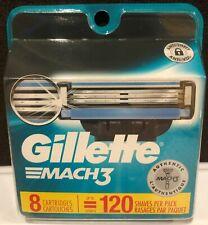 Gillette Mach 3 Razor Blades/Cartridges - 8 Pack - Brand New!