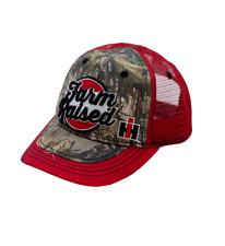 International Harvester Farm Raised Camo/Red Mesh Back Toddler Hat