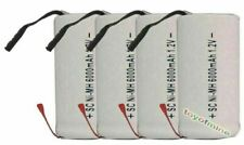 4pcs SubC Sub C 6000mAh 1.2V Ni-MH W/ Tab Rechargeable Battery White High Power