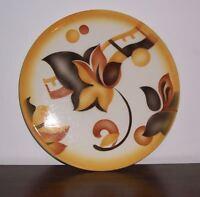 Kuchenplatte Tortenplatte Ø 28 cm Rund Art Deco 20er 30er Bauhaus Spritzdekor