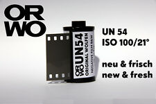 C0RE UN54 Film • ISO 100 • ORWO • 35mm • NEW & FRESH • b/w negative & reversal