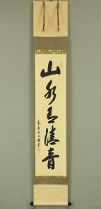大仙桃林 DAISEN TORIN DAITOKU-JI Zen hanging scroll / 山水有清音 Original Box W314