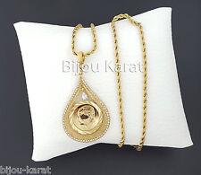 Cumhuriyet Aatürk altini Kolye Ceyrek 24 Carat Altin Kaplama Gold Chain Coin