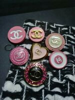 14 Mixed Pink Color Chanel Button Replacement Sewing Accessories - ML02