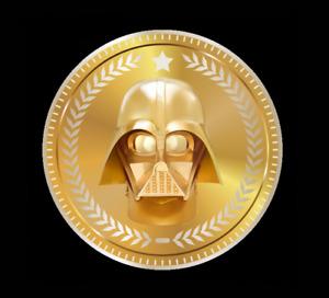 LORD VADER Darth Vader NFT WAX Star Wars Digital Art Coin RARE Mint #16 NR