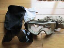 US GI ESS Profile NVG Ballistic Goggles ACU Clear & Dark Lenses!!! Used & Cool!!