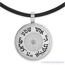 Stainless Steel Star of David Judaica Jewish Charm Pendant Shema Israel Necklace